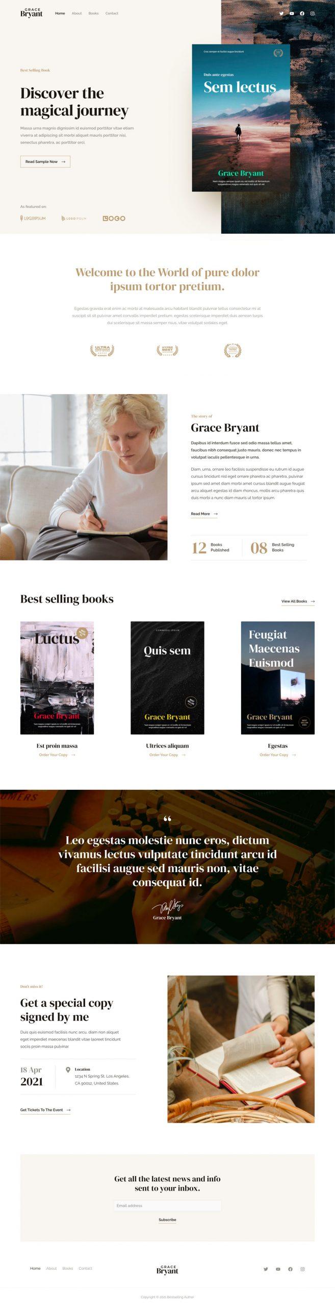 Adamo Web Design | Web Design Durham | bestselling author 02 home scaled