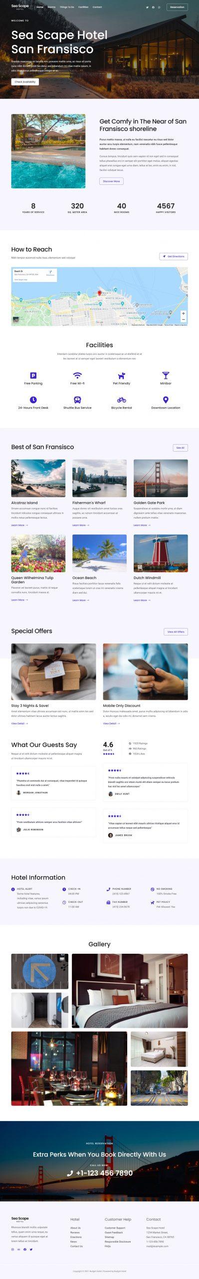 Adamo Web Design | Web Design Durham | budget hotel 04 home page scaled