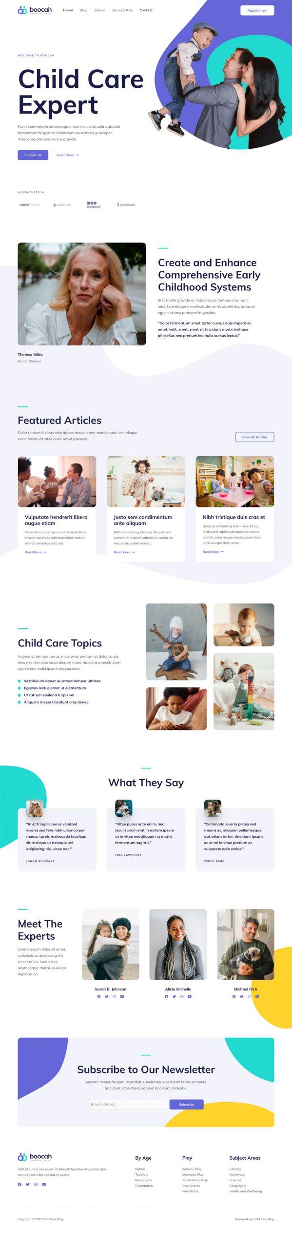 Adamo Web Design | Web Design Durham | childcare blog 02 home scaled