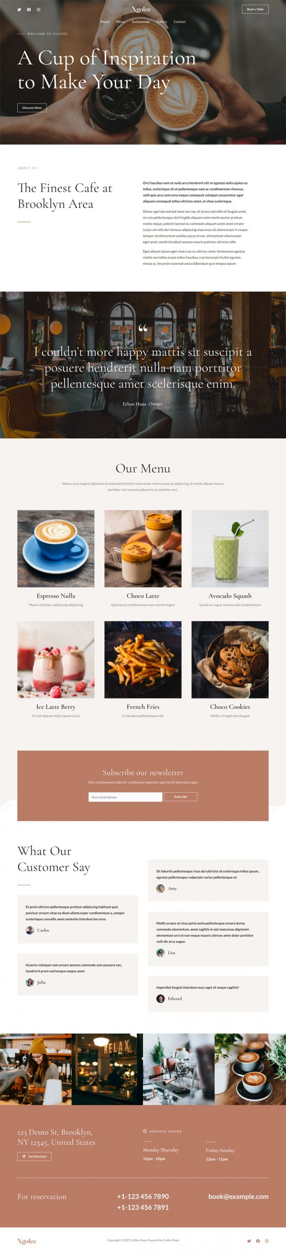 Adamo Web Design | Web Design Durham | coffee shop 02 scaled
