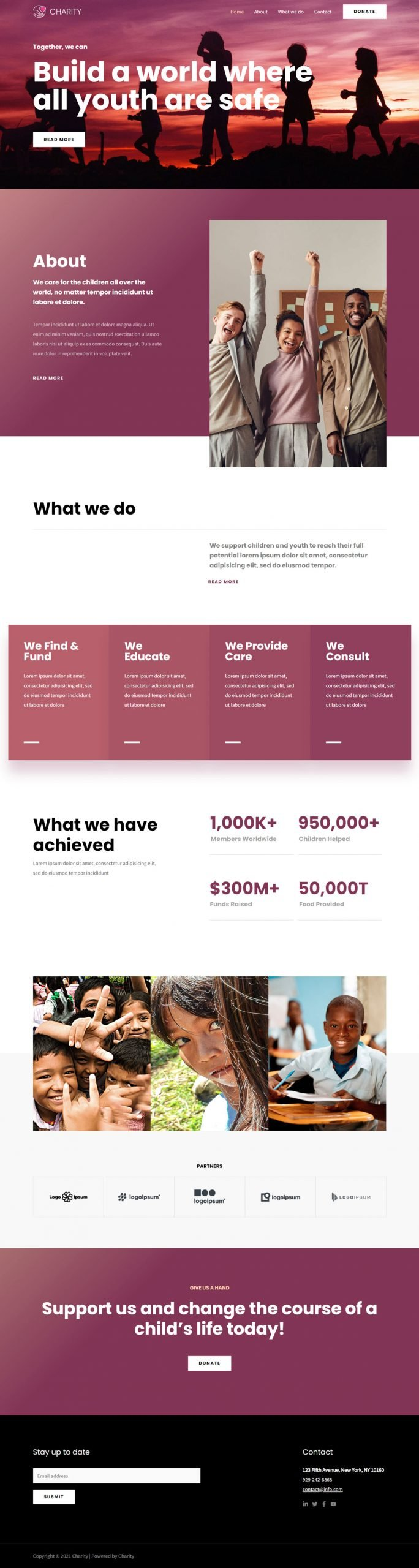 Community website design example