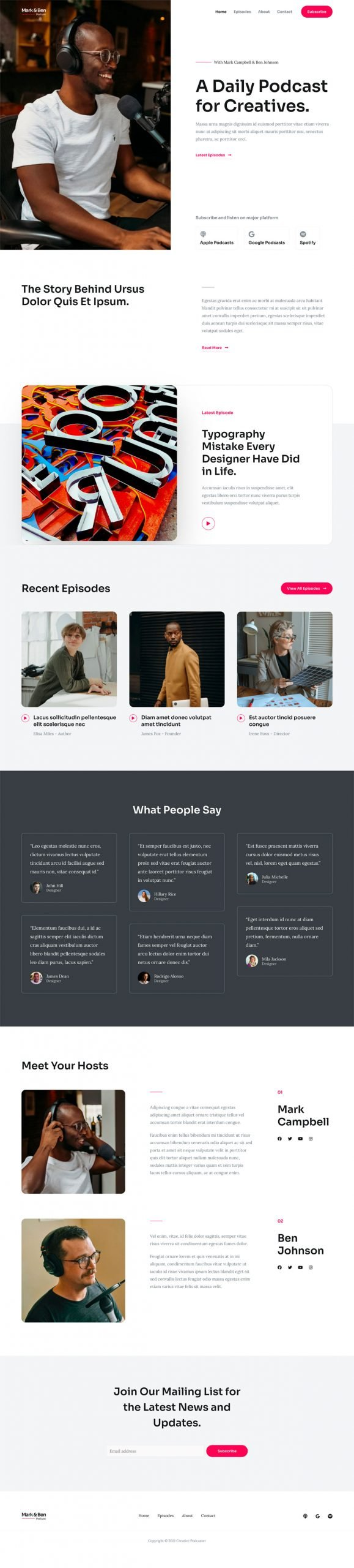 Adamo Web Design | Web Design Durham | creative podcaster 02 home scaled