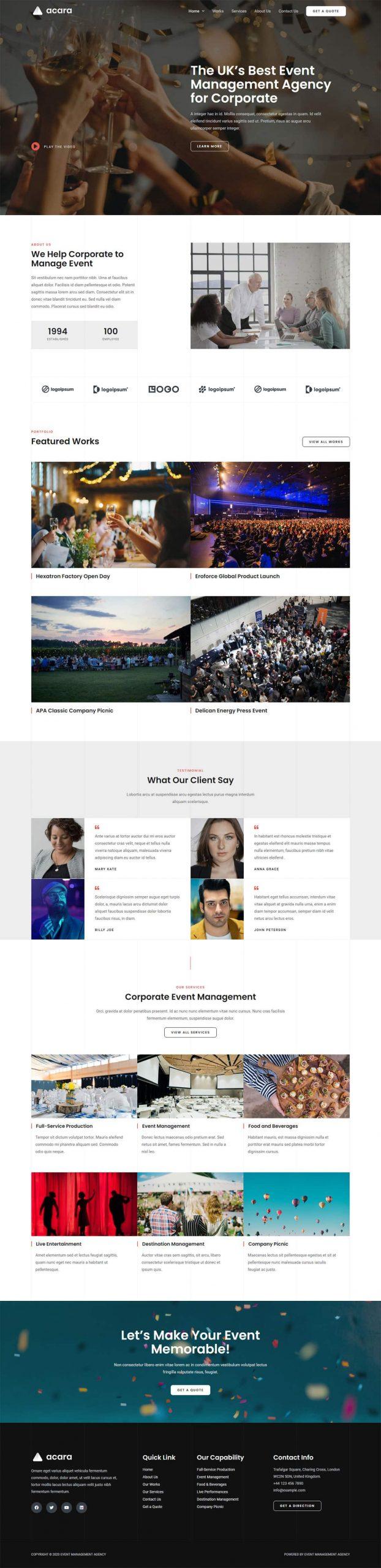 Adamo Web Design | Web Design Durham | event management 02 scaled