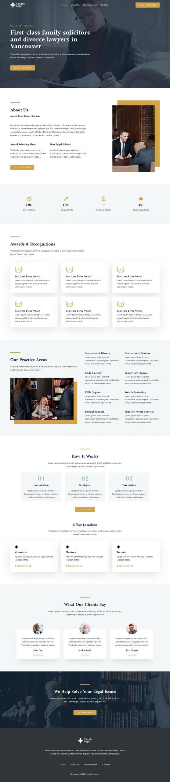 Adamo Web Design | Web Design Durham | family lawyer 02 home scaled