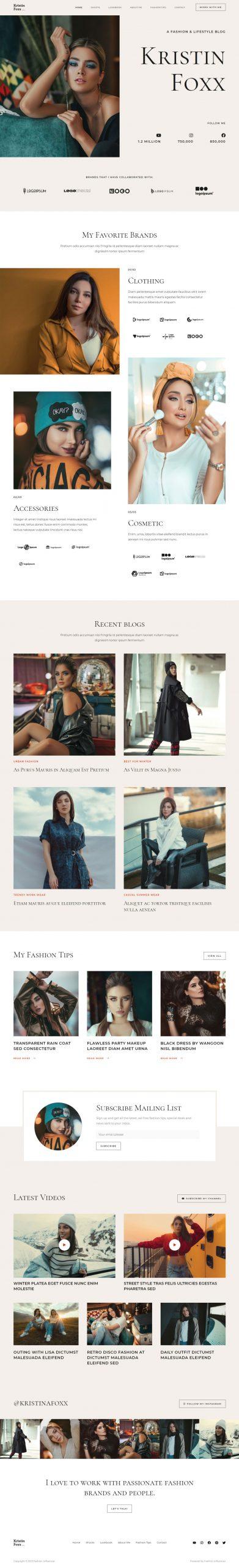 Adamo Web Design | Web Design Durham | fashion influencer 02 home scaled