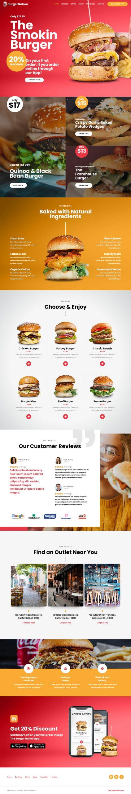Adamo Web Design | Web Design Durham | fast food 02 home scaled