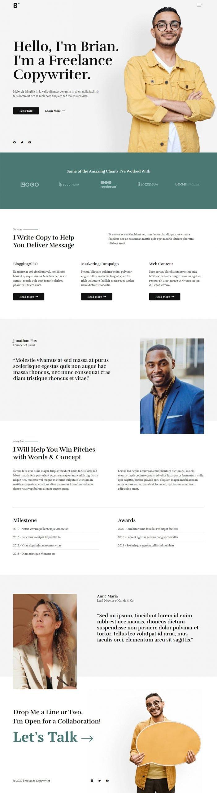 Adamo Web Design | Web Design Durham | freelance copywriter 02 homepage scaled
