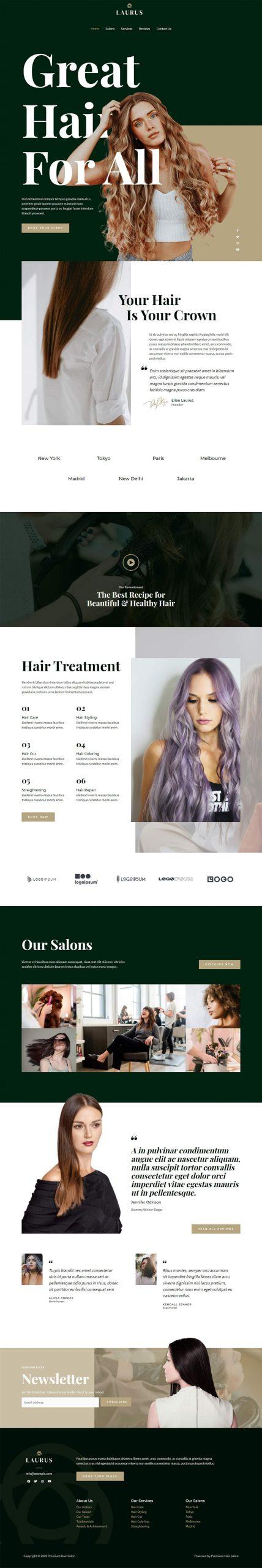 Adamo Web Design | Web Design Durham | hair salon 04 home scaled