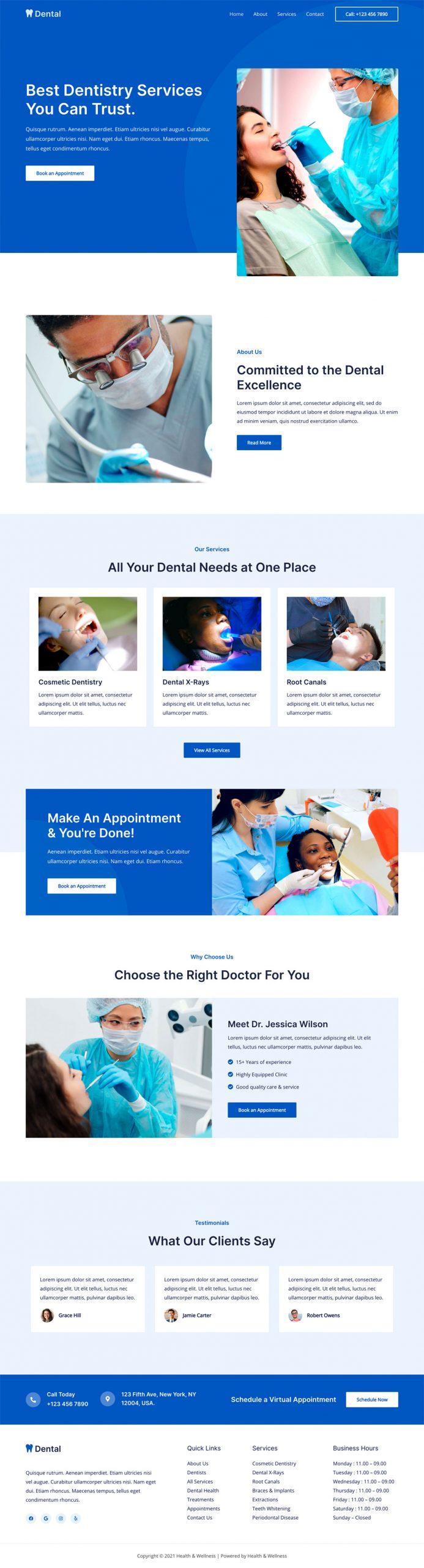 Adamo Web Design | Web Design Durham | health wellness 02 home scaled