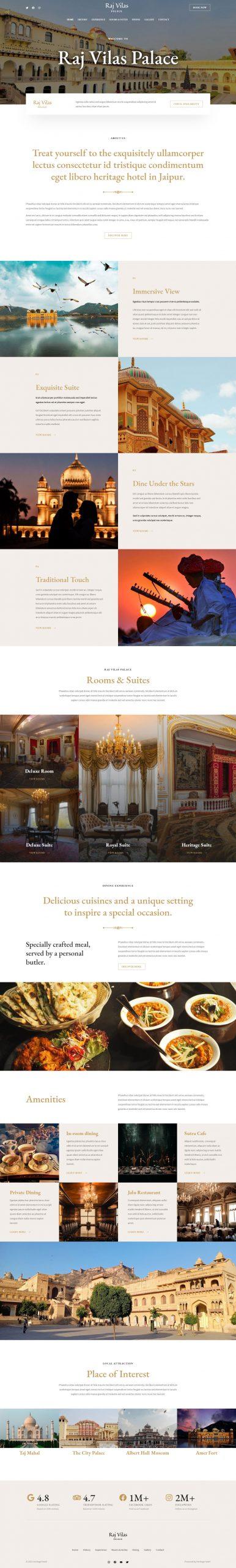 Adamo Web Design | Web Design Durham | heritage hotel 04 home 01 scaled