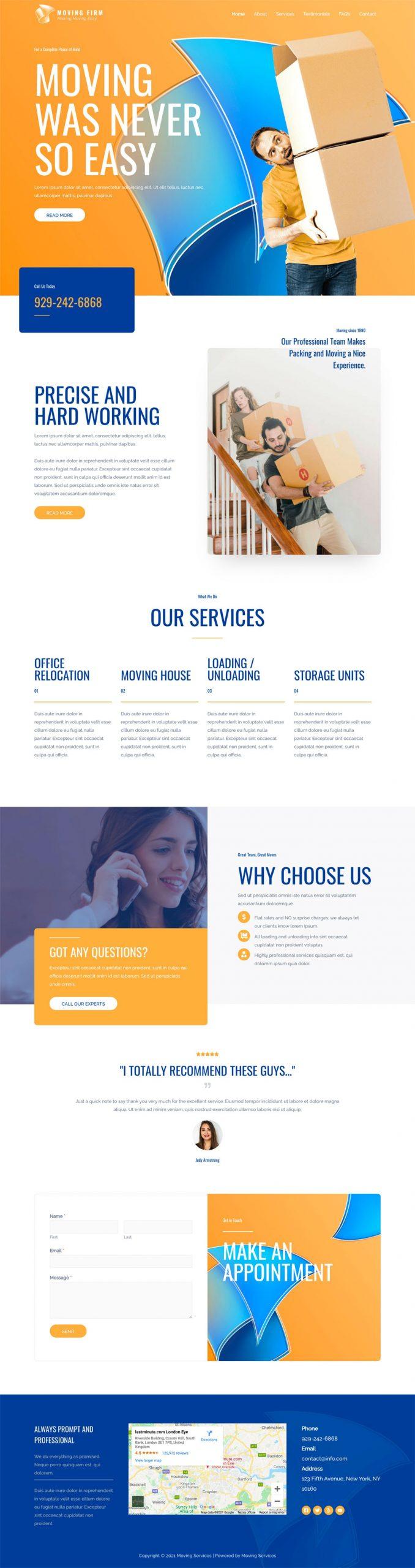 Adamo Web Design | Web Design Durham | moving services 04 home scaled