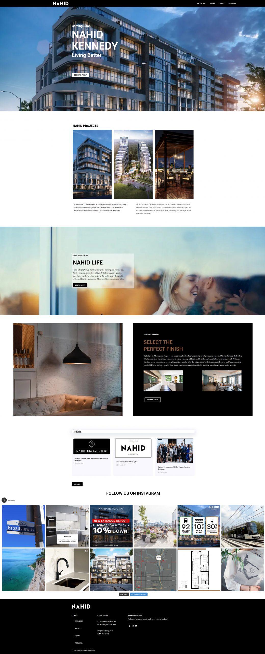 Nahid Corp Homepage