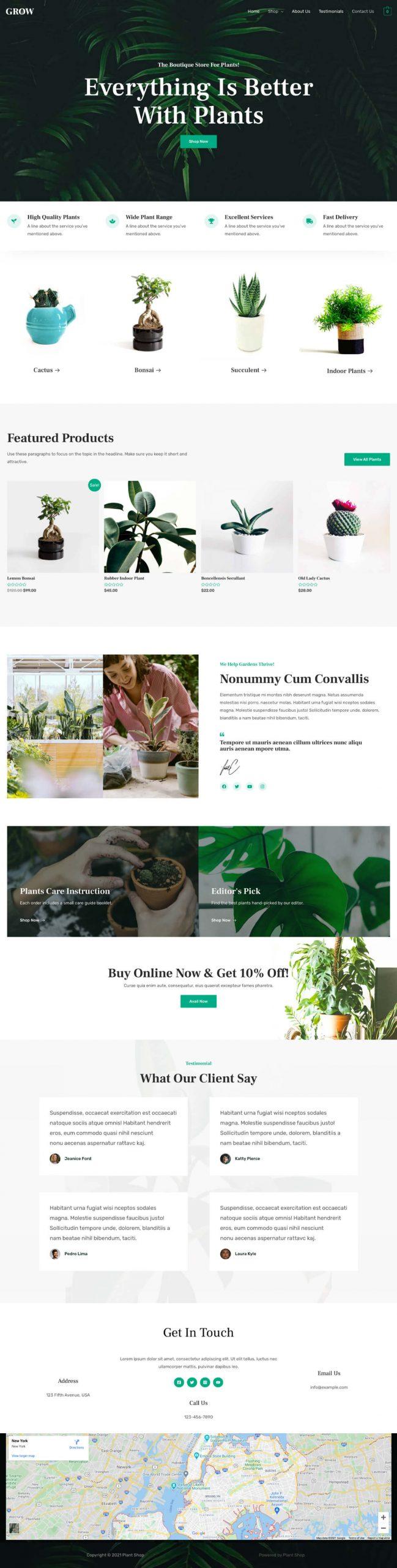 Adamo Web Design | Web Design Durham | plant shop grow home scaled