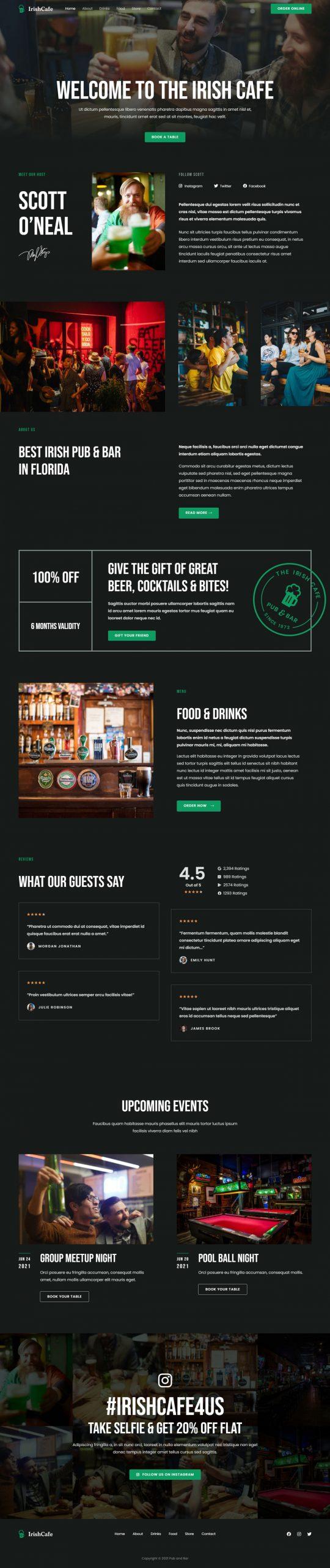 Adamo Web Design | Web Design Durham | pub and bar 02 home scaled