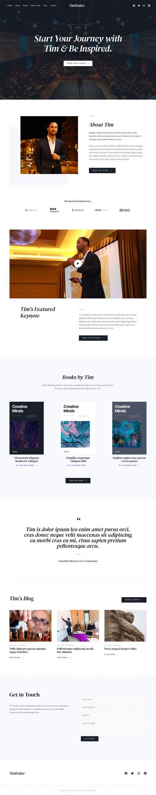 Adamo Web Design | Web Design Durham | public speaker 02 home scaled