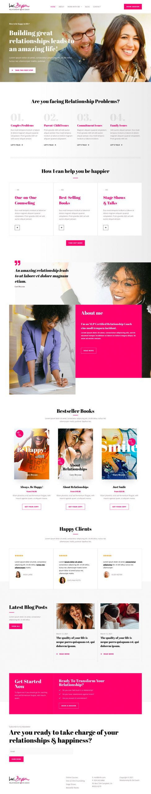 Adamo Web Design | Web Design Durham | relationship coach 02 home scaled