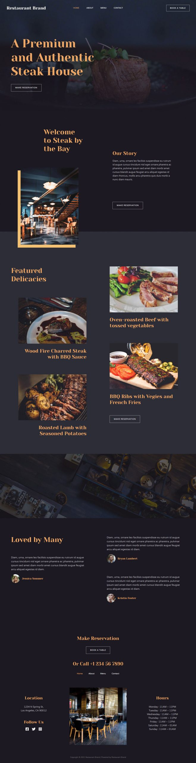 Adamo Web Design | Web Design Durham | steak house 02 home scaled