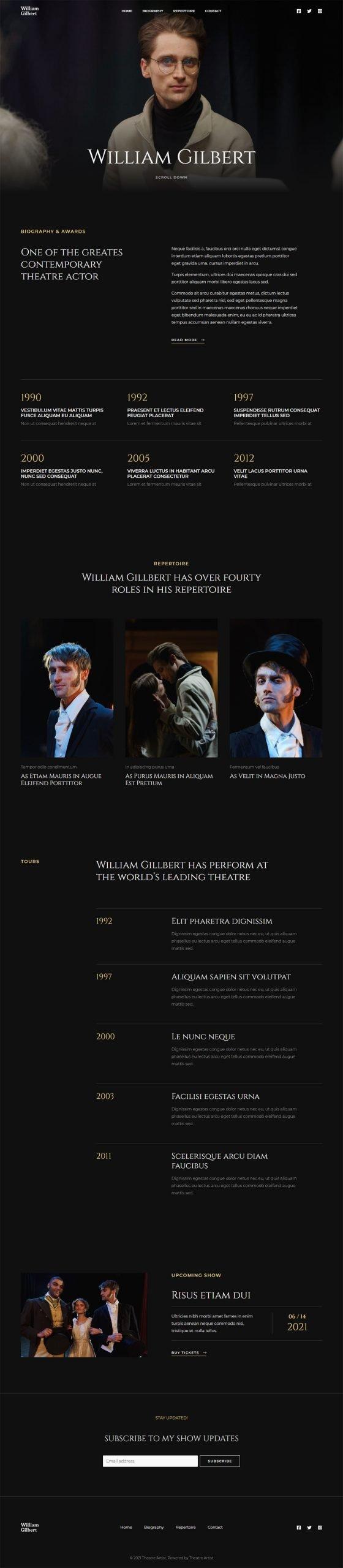 Adamo Web Design | Web Design Durham | theatre artist 02 scaled