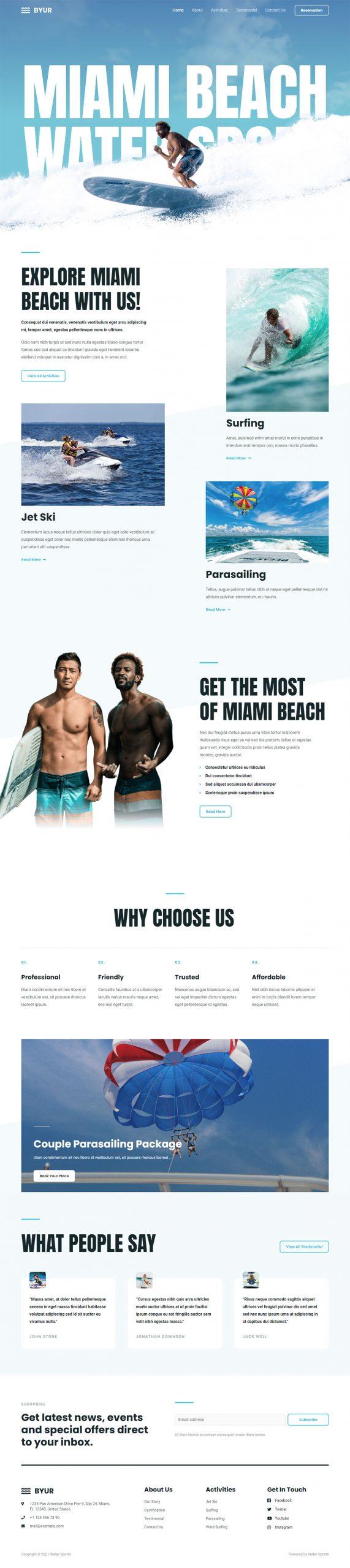 Adamo Web Design | Web Design Durham | water sports 04 scaled