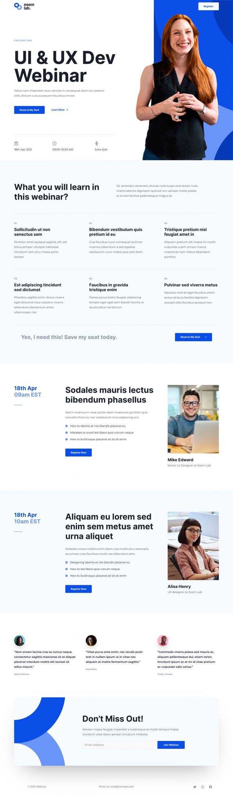 Adamo Web Design | Web Design Durham | webinar 02 home scaled
