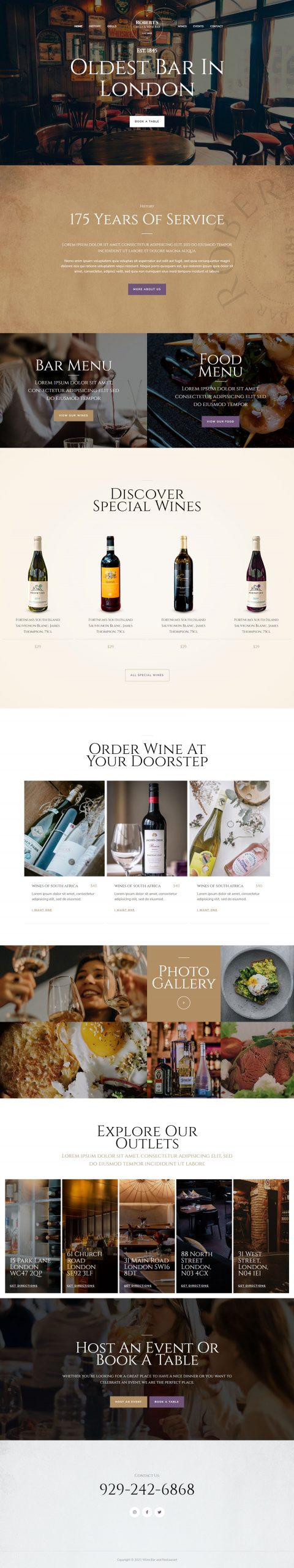 Adamo Web Design | Web Design Durham | wine bar and restaurant 04 home 1 scaled